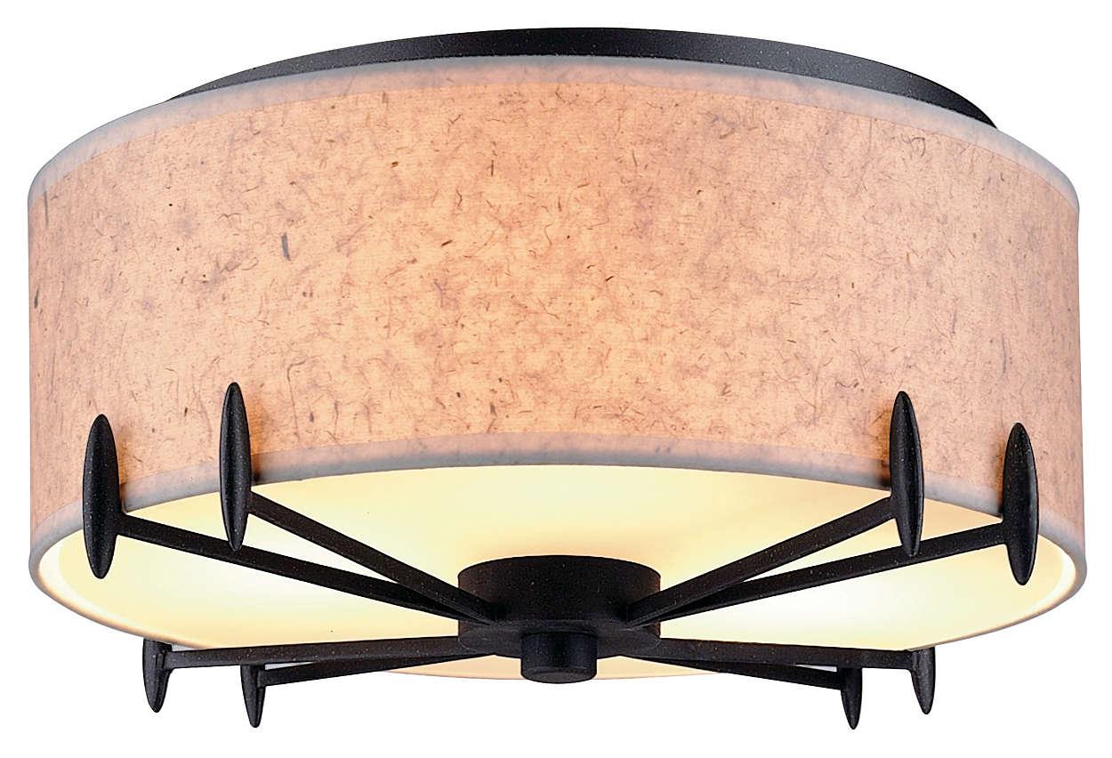 Urban Oasis 2-light Ceiling, Bronze Luster finish