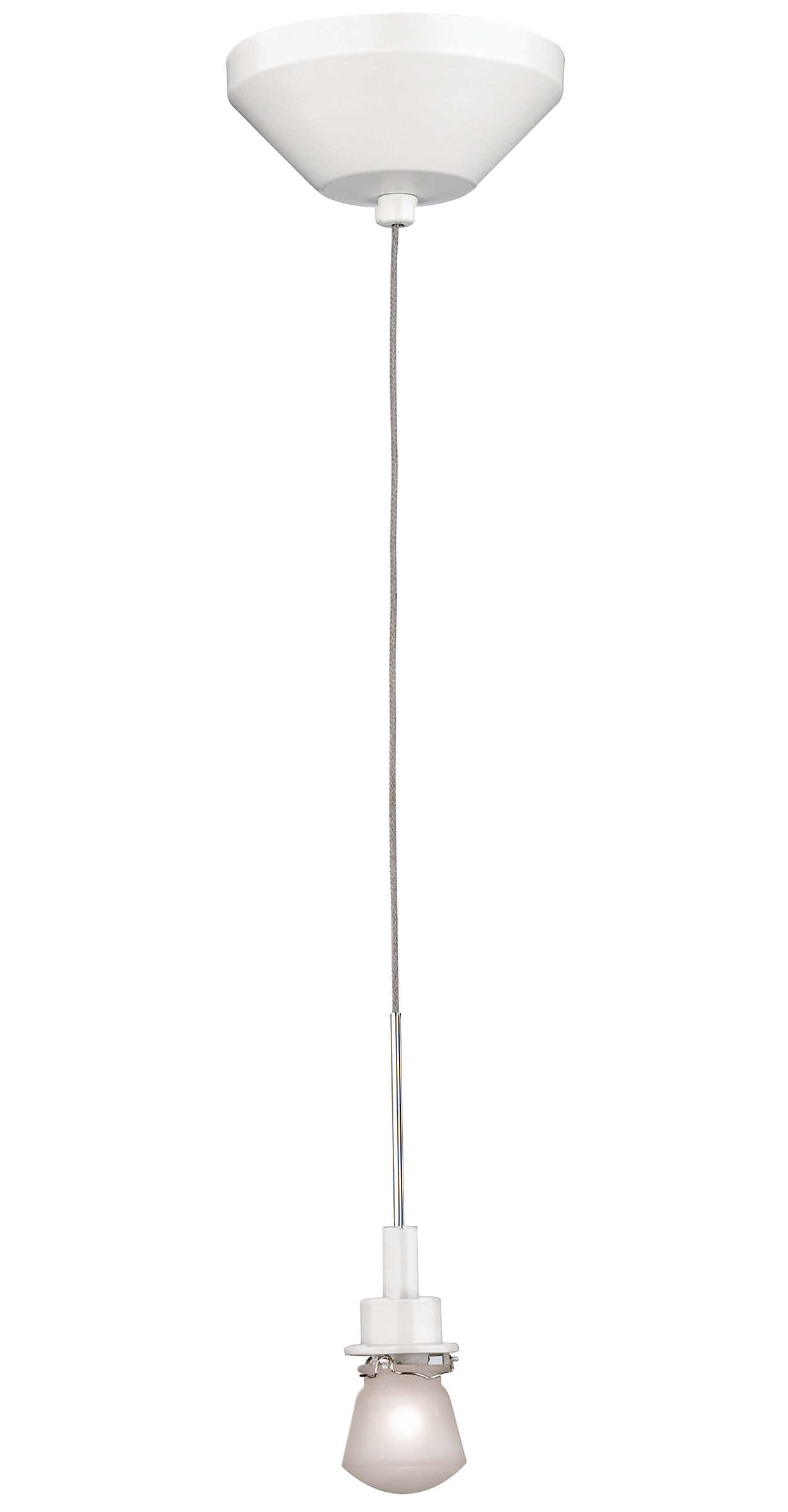 Suspension 1-light Pendant in Matte White finish