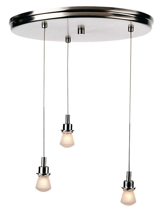 Suspension 3-light Pendant in Satin Nickel finish
