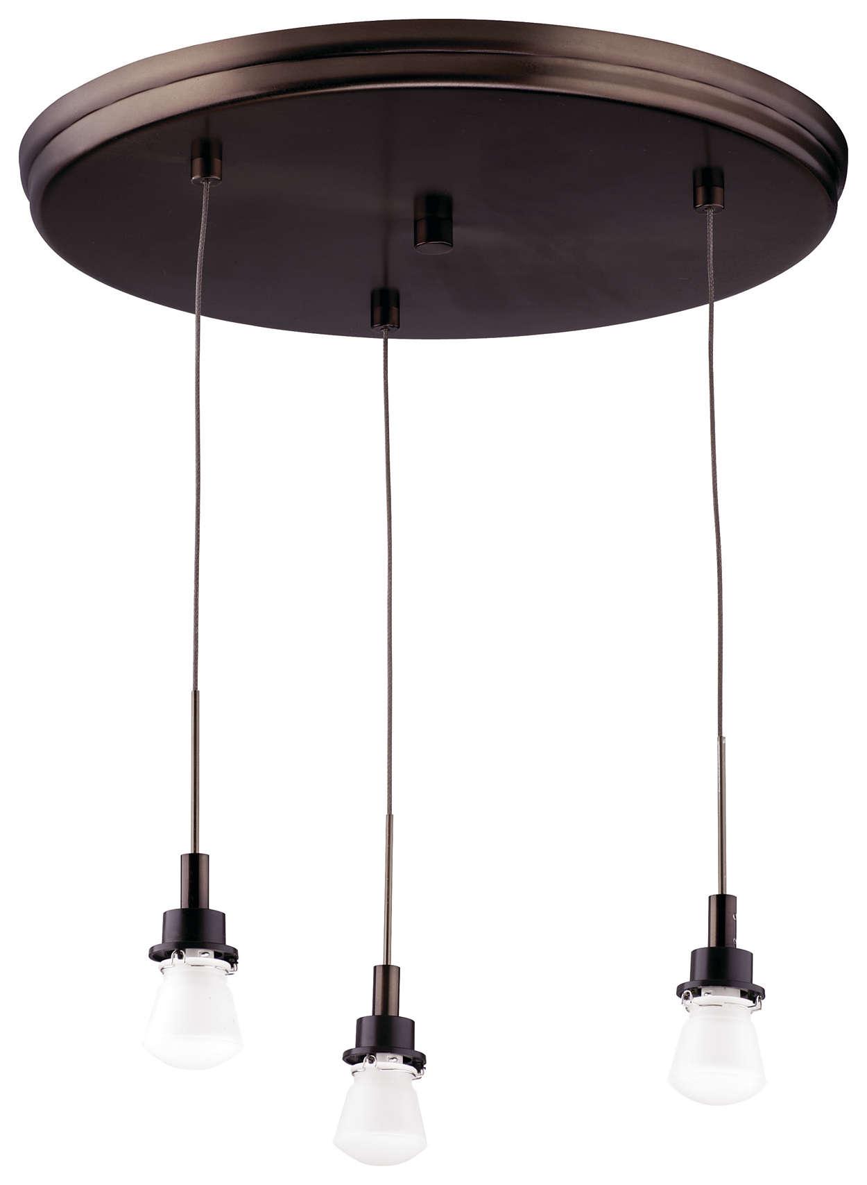 Suspension 3-light Pendant in Merlot Bronze finish