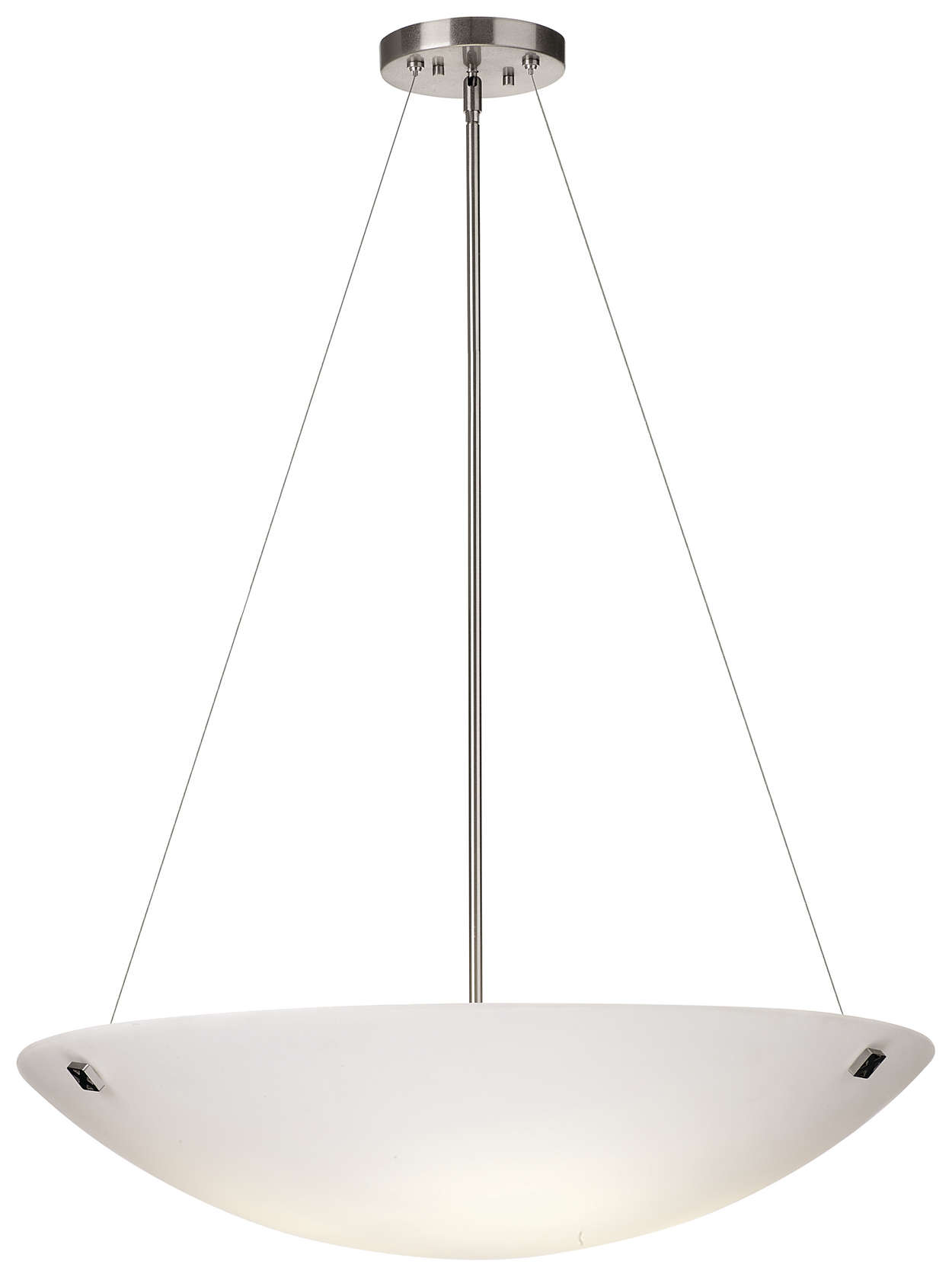 Crossroads 4-light Pendant in Satin Nickel finish