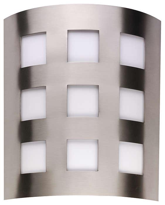 Metro 2-light Wall in Satin Nickel finish