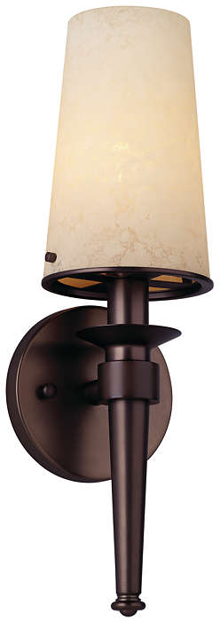 Torch 1-light Bath in Merlot Bronze finish