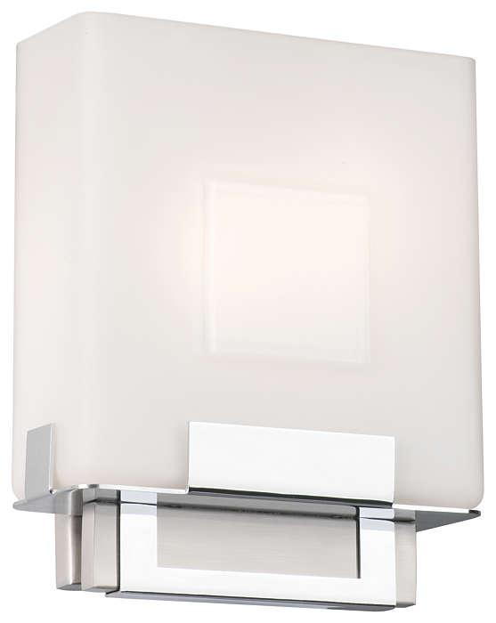 Square 2-light Bath in Satin Nickel finish