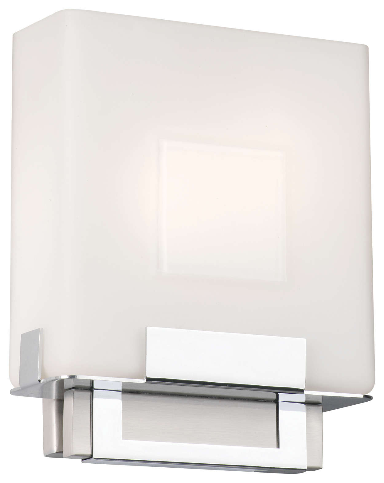 Square 2-light Bath in Satin Nickel finish