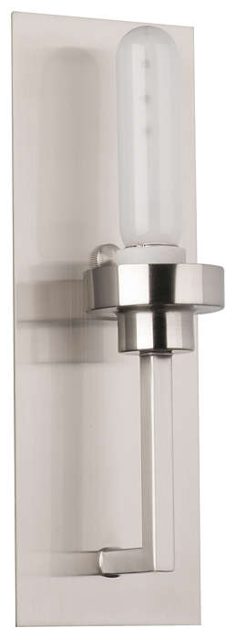 Nicole 1-light Bath in Satin Nickel finish