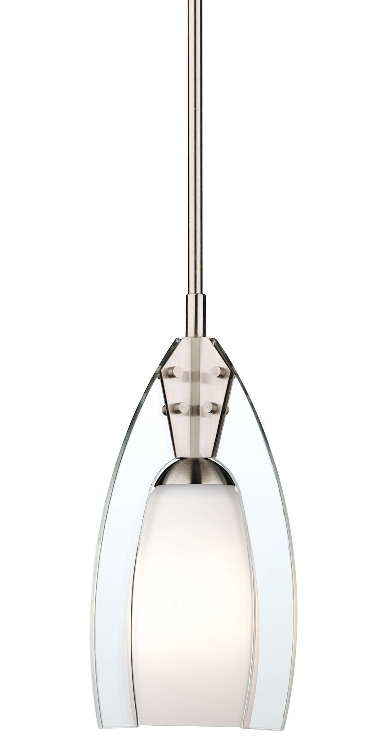 Mini Morgan 1-light Pendant in Satin Nickel finish