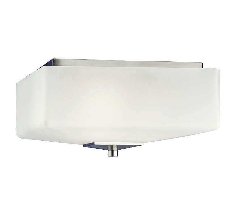 Radius 2-light Ceiling in Satin Nickel finish