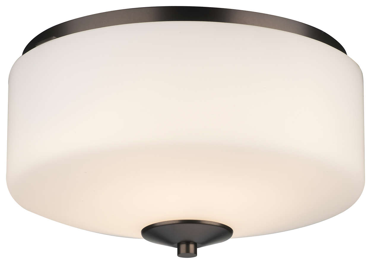 Radius 2-light Ceiling in Merlot Bronze finish