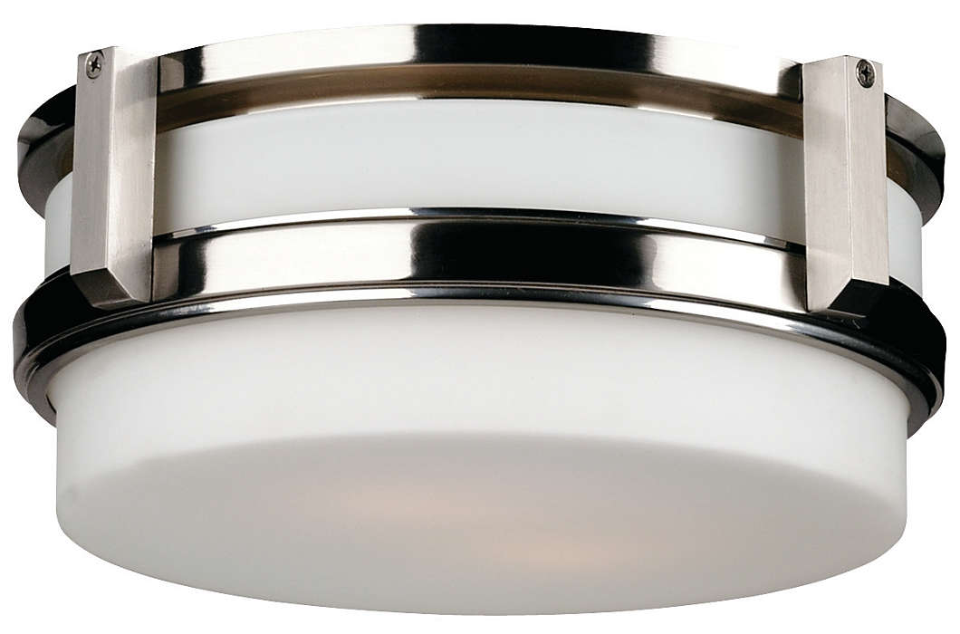 27Th Street 2-light Ceiling in Satin Nickel finish