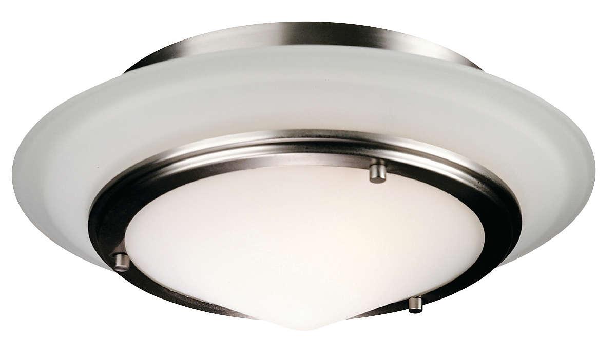 Regatta II 2-light Ceiling in Satin Nickel finish
