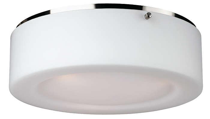 Passage 2-light Ceiling in Satin Nickel finish