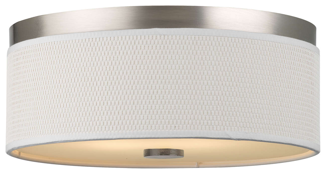 Cassandra 2-light Ceiling in Satin Nickel finish