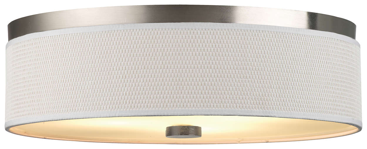 Cassandra 3-light Ceiling in Satin Nickel finish