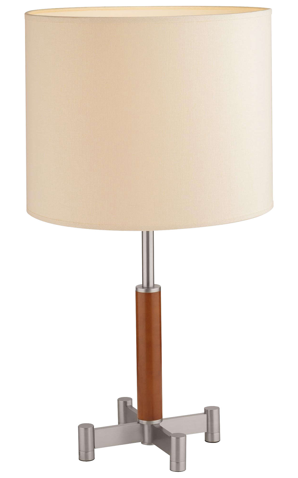 Embarcadero 1-light Table Lamp, Satin Nickel