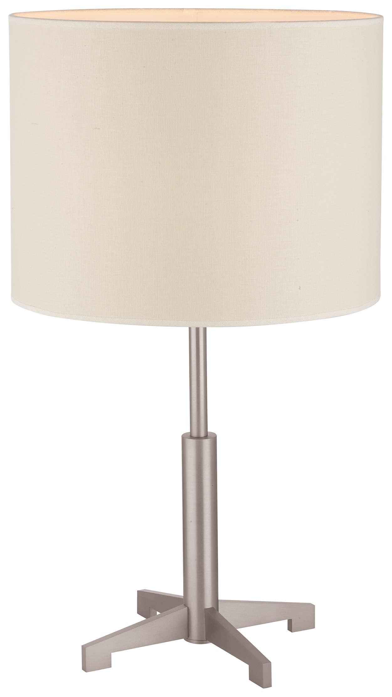 Fisher Island 1-light Table Lamp, Satin Nickel