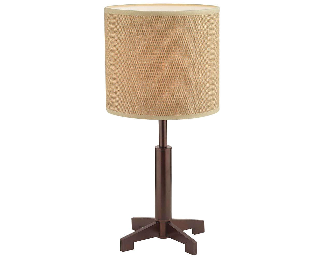 Fisher Island 1-light Table Lamp, Merlot Bronze