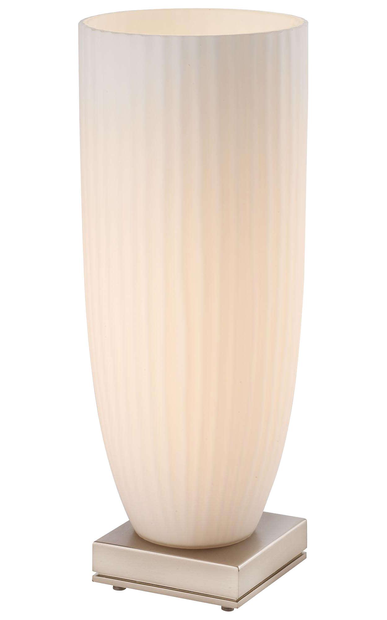 Capitola 1-light Table Lamp, Satin Nickel finish