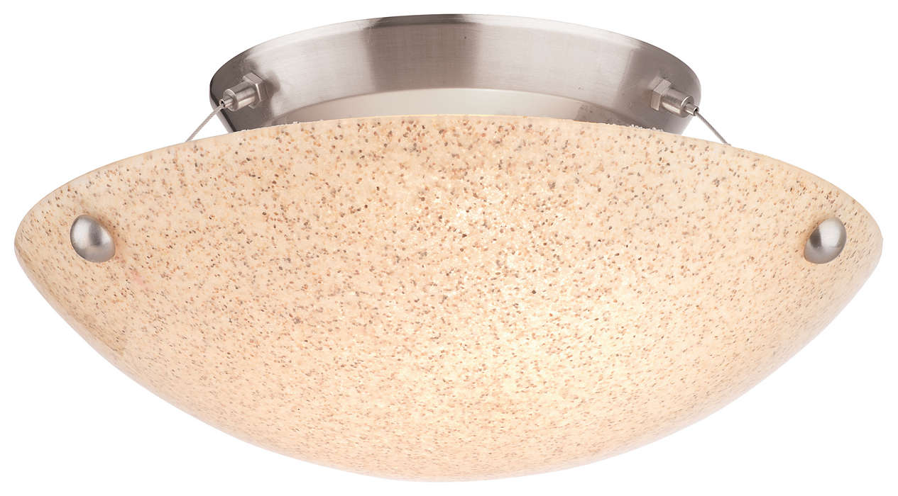 Pacifica 2-light Ceiling in Satin Nickel finish