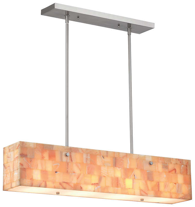 Hudson 4-light Pendant in Satin Nickel finish