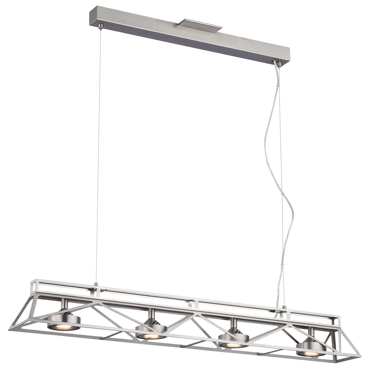 Bridge 4-light LED Pendant in Satin Nickel finish