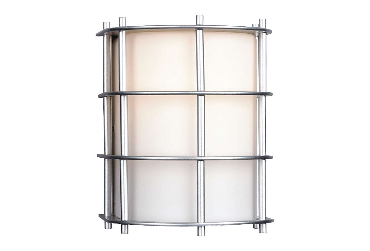 Hollywood Hills 1-light Outdoor Wall, Vista Silver