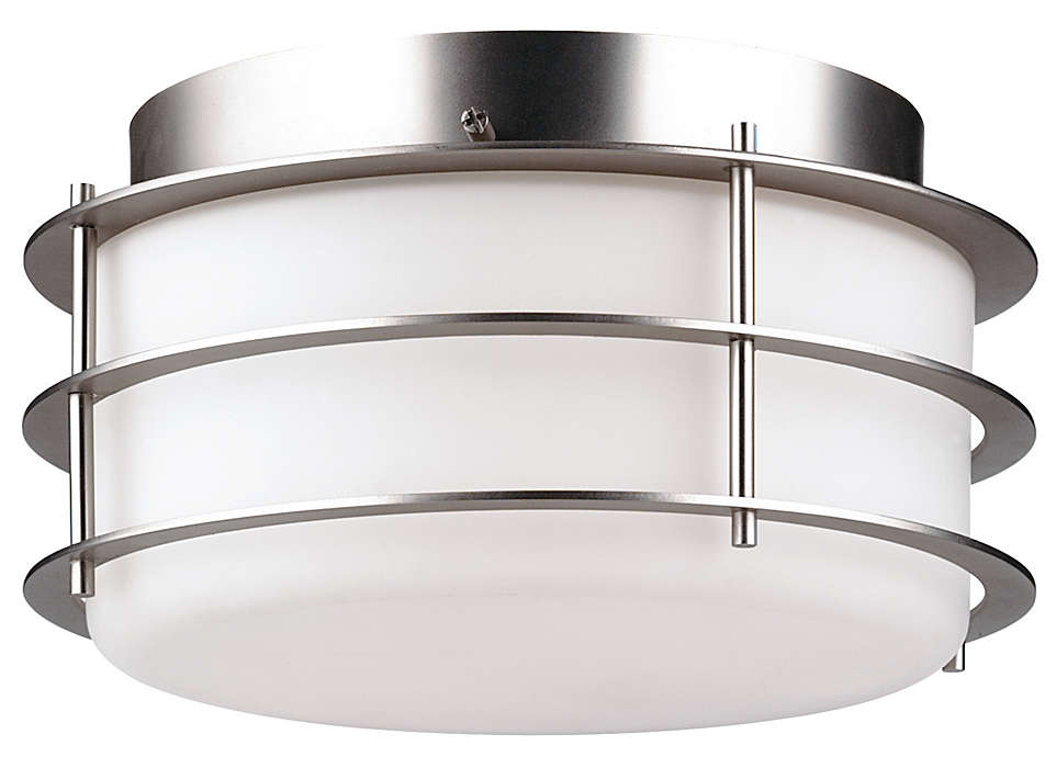 Hollywood Hills 2-light Ceiling, Metallic Silver