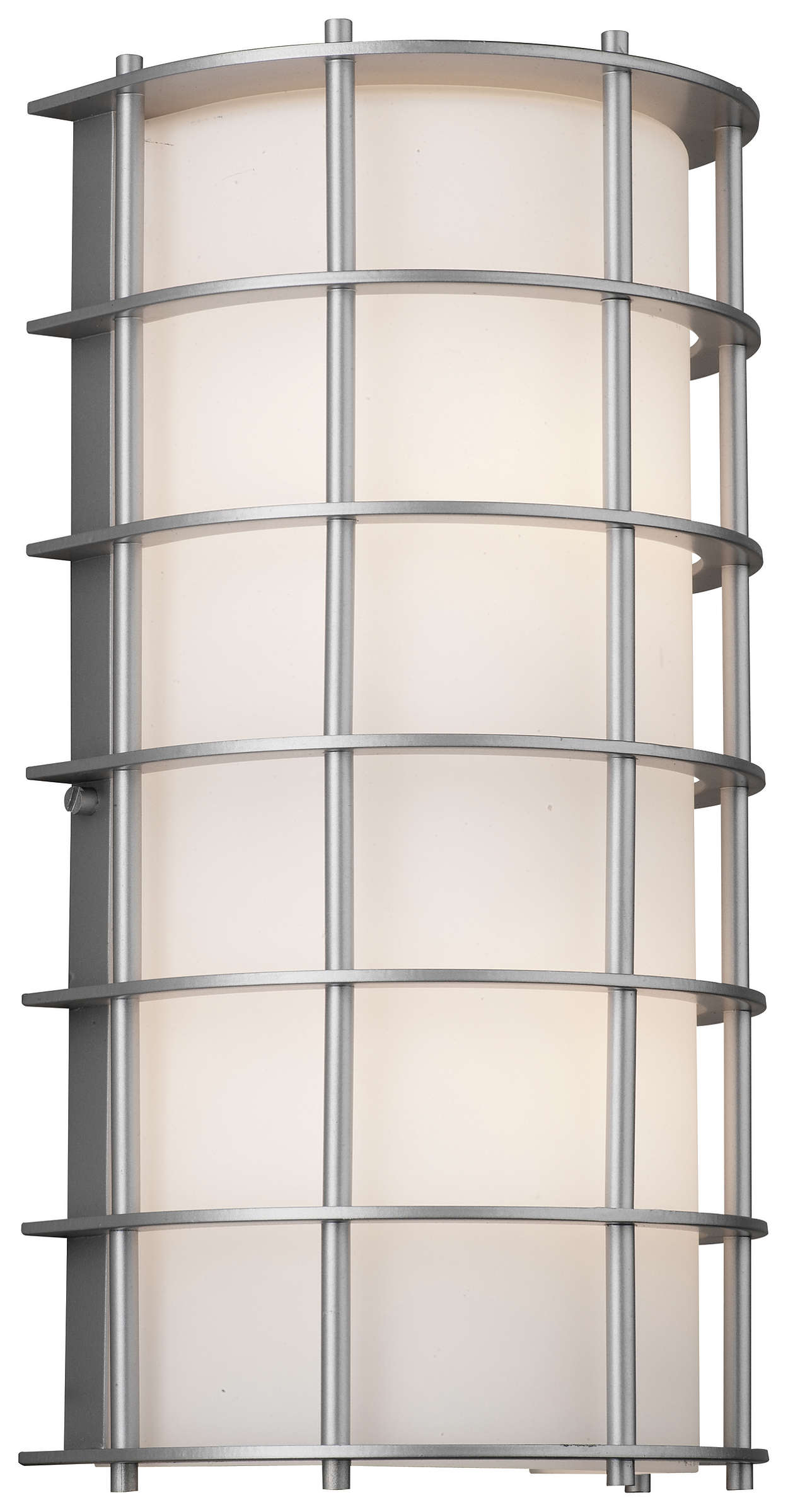 Hollywood Hills 2-light Outdoor Wall, Vista Silver