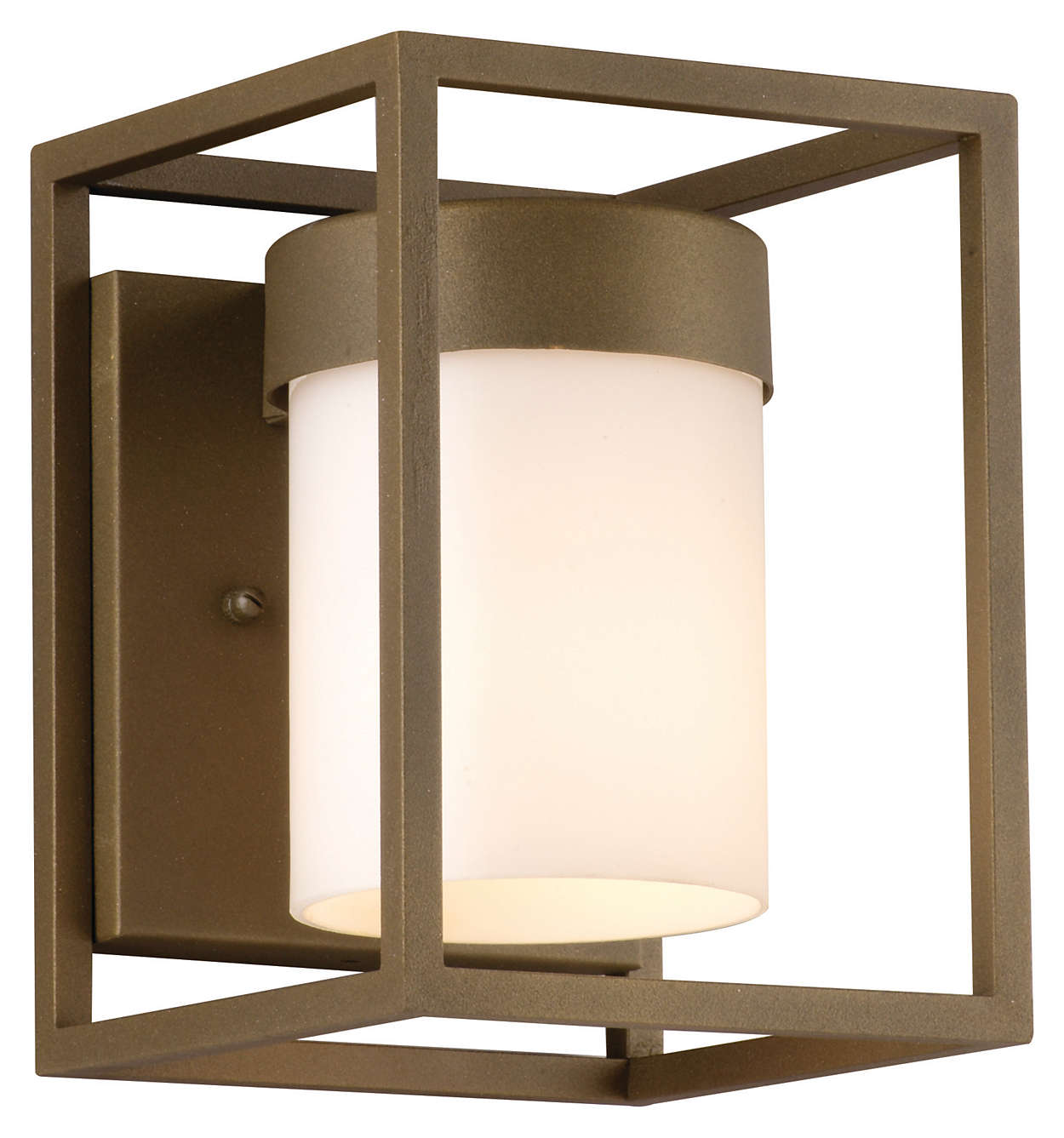 Cube 1-light Outdoor Wall in Bronze finish