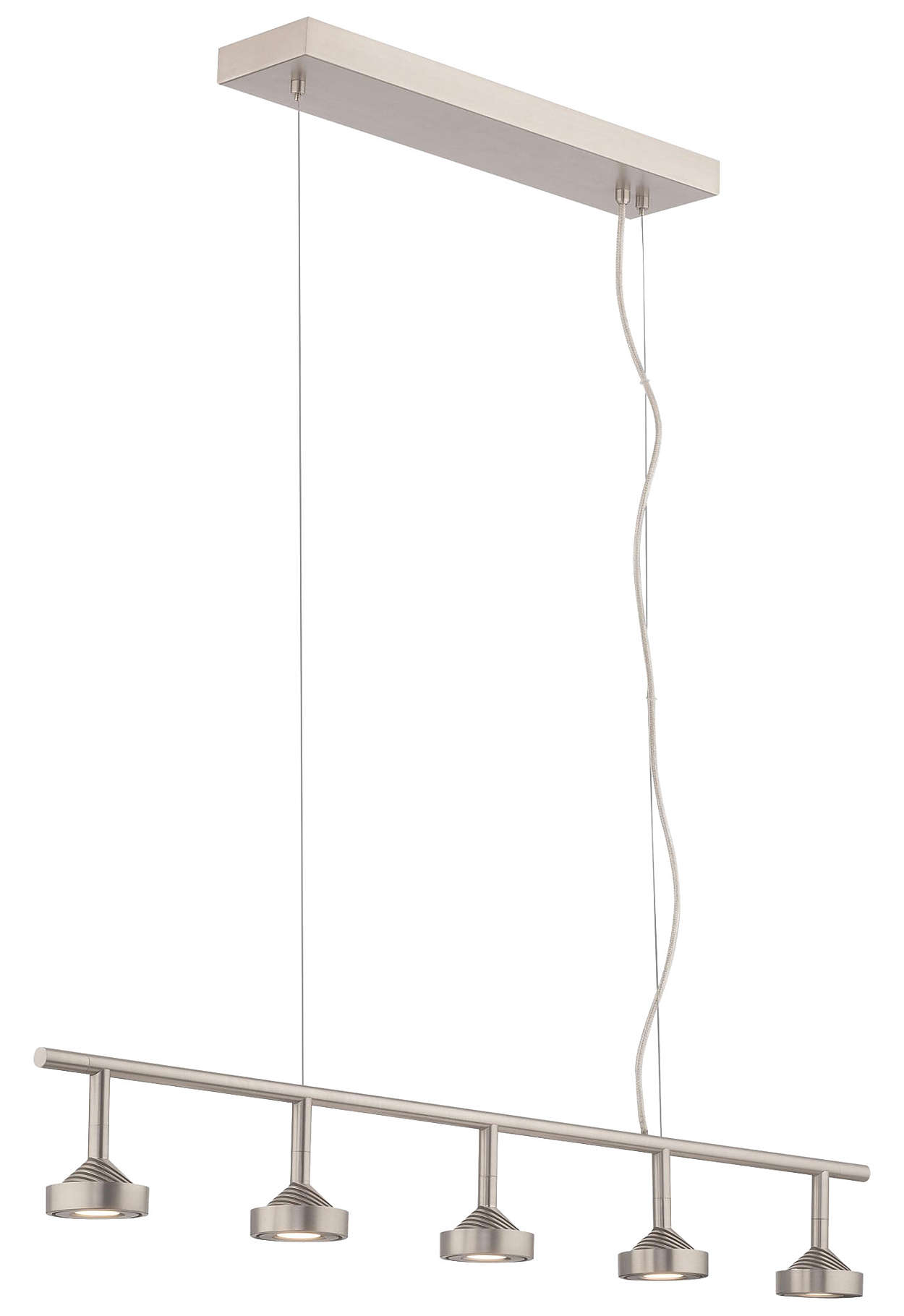 Yo-Yo 5-light LED Pendant in Satin Nickel finish