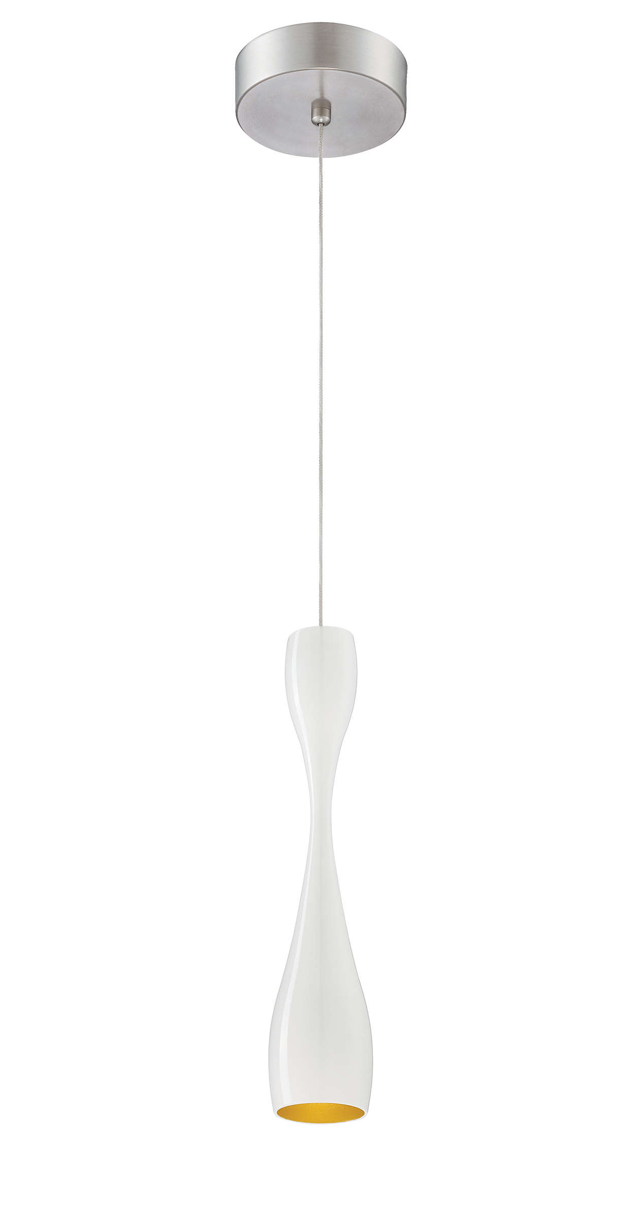 Sophia 1-light LED pendant in Gloss White finish