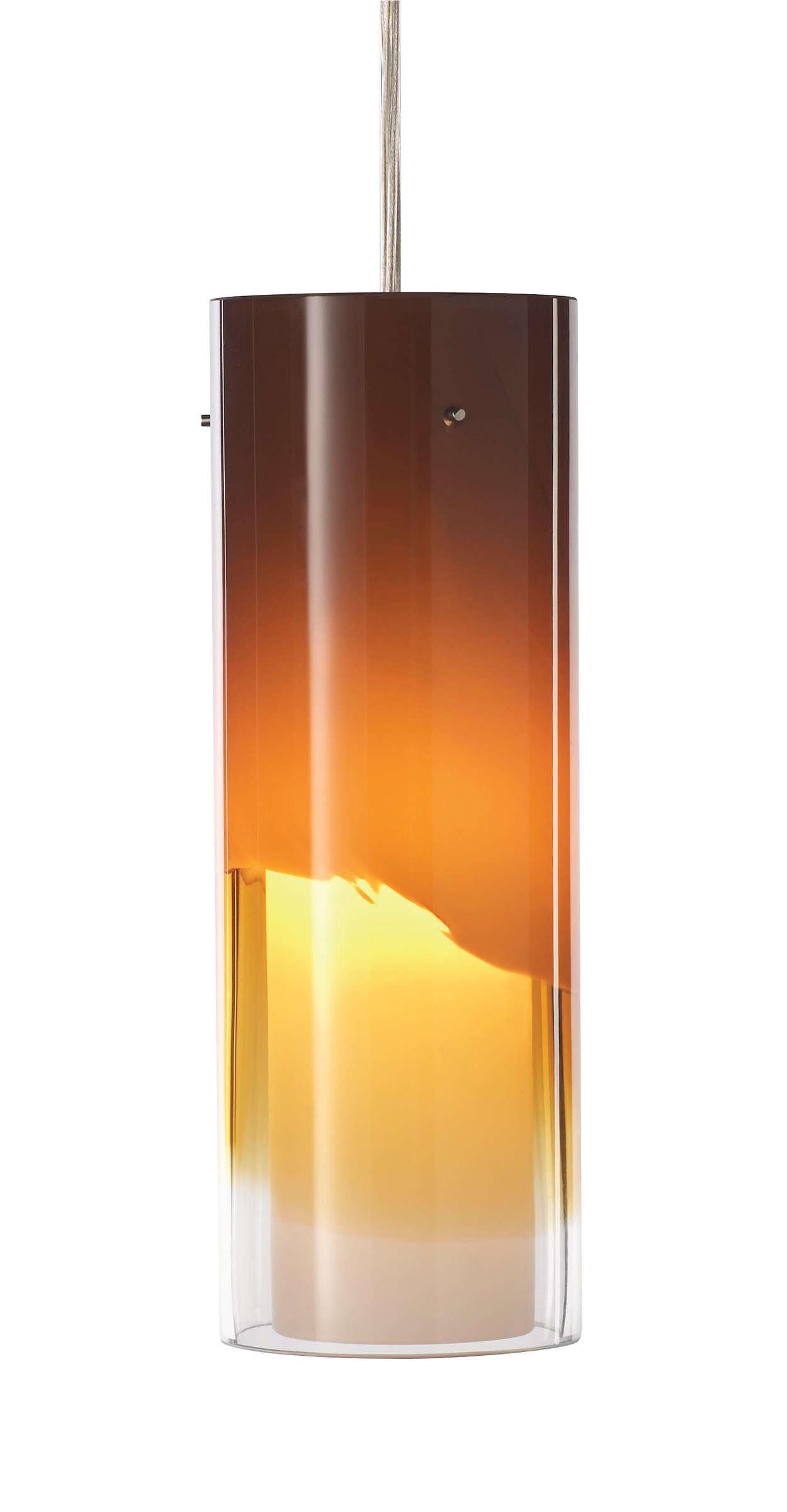 Capri LED pendant in Satin Nickel finish