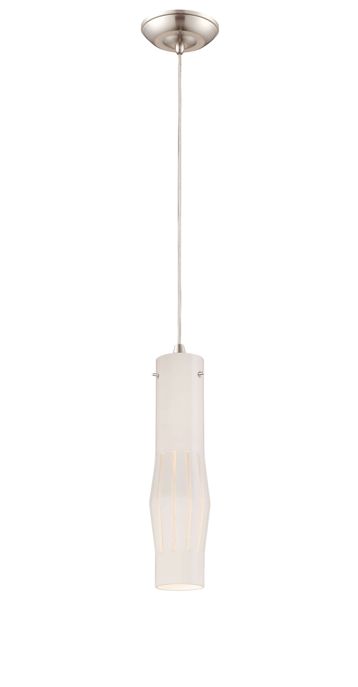 Expanse LED pendant in Satin Nickel finish