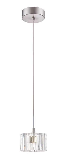 Liz 1-light LED pendant in Satin Nickel finish