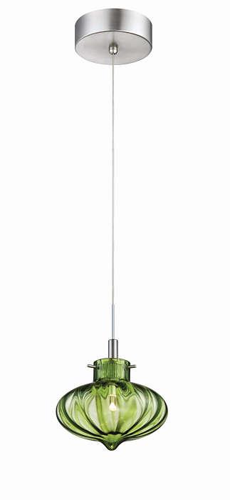 Fez 1-light LED pendant in Satin Nickel finish
