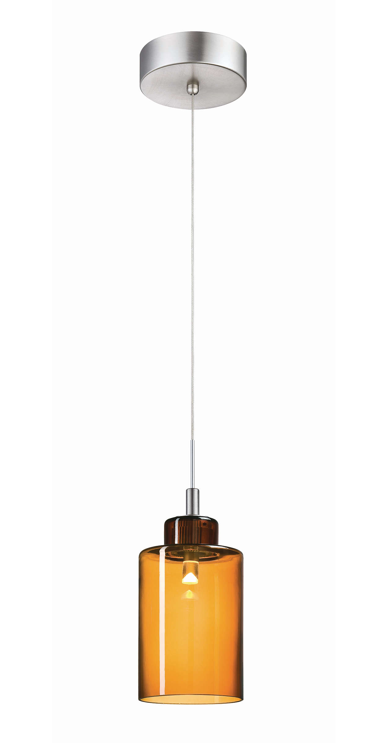 Harmonize 1-light LED pendant, Satin Nickel finish