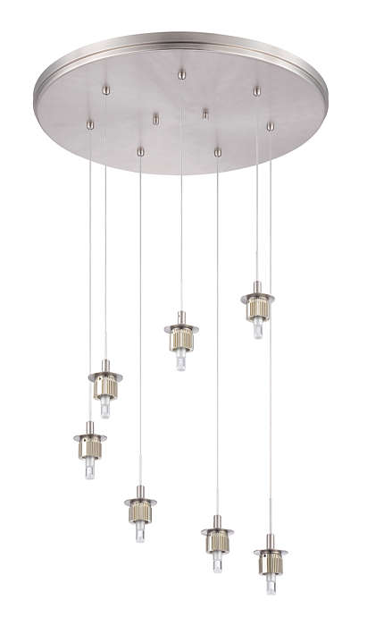 Sparkle 7-light pendant holder, Satin Nickel