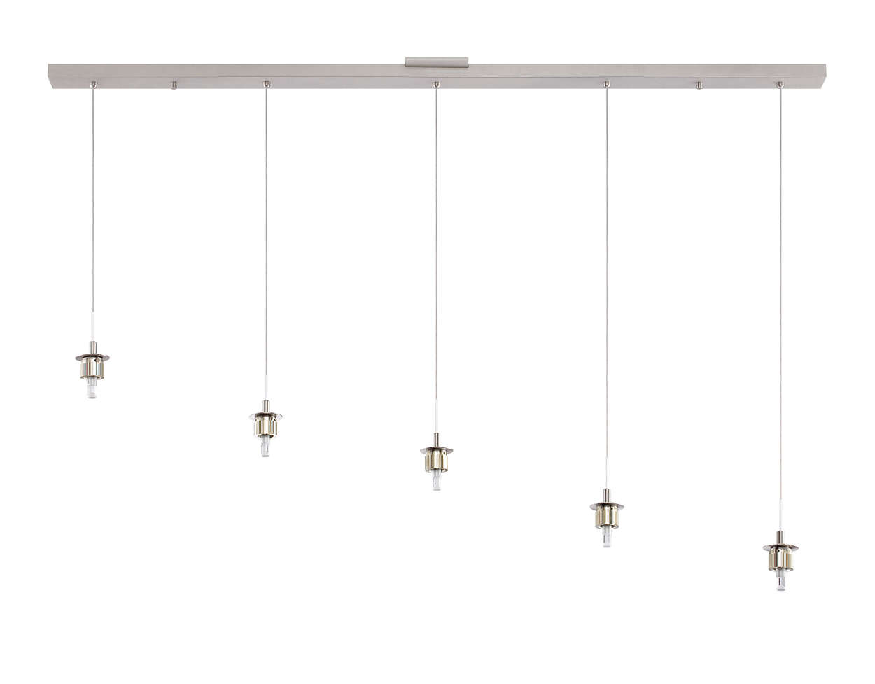 Sparkle 5-light pendant holder, Satin Nickel