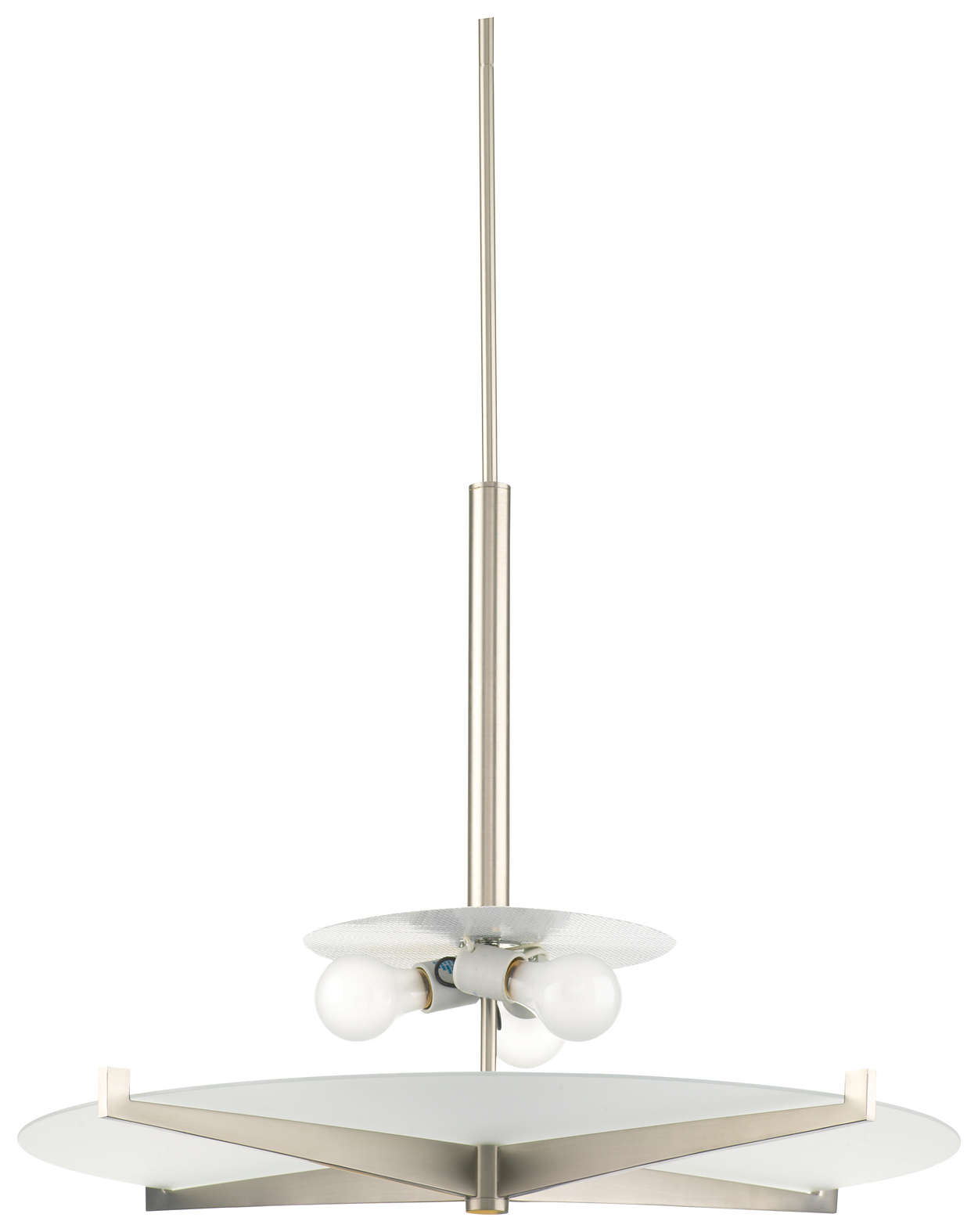 Fisher Island 3-light Pendant, Satin Nickel finish