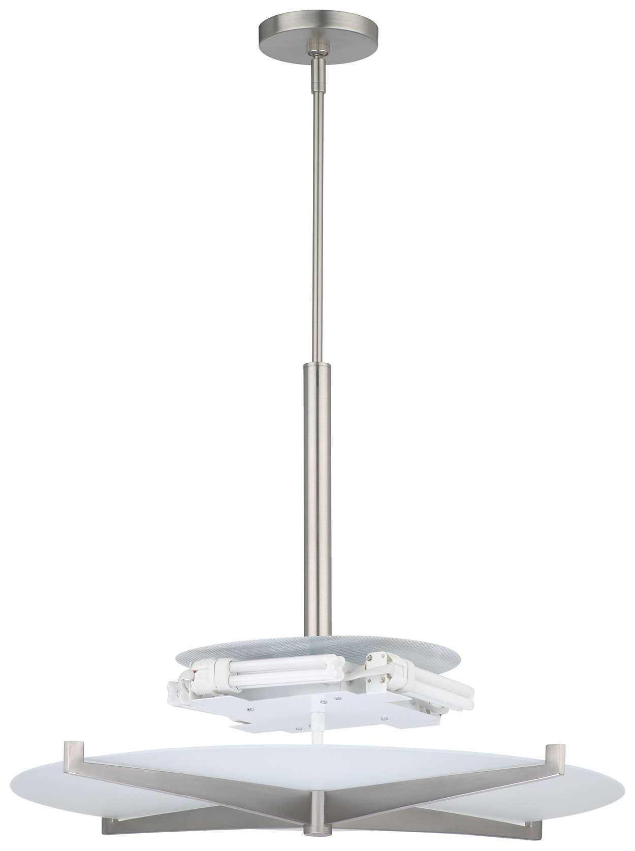 Fisher Island 4-light Pendant, Satin Nickel finish