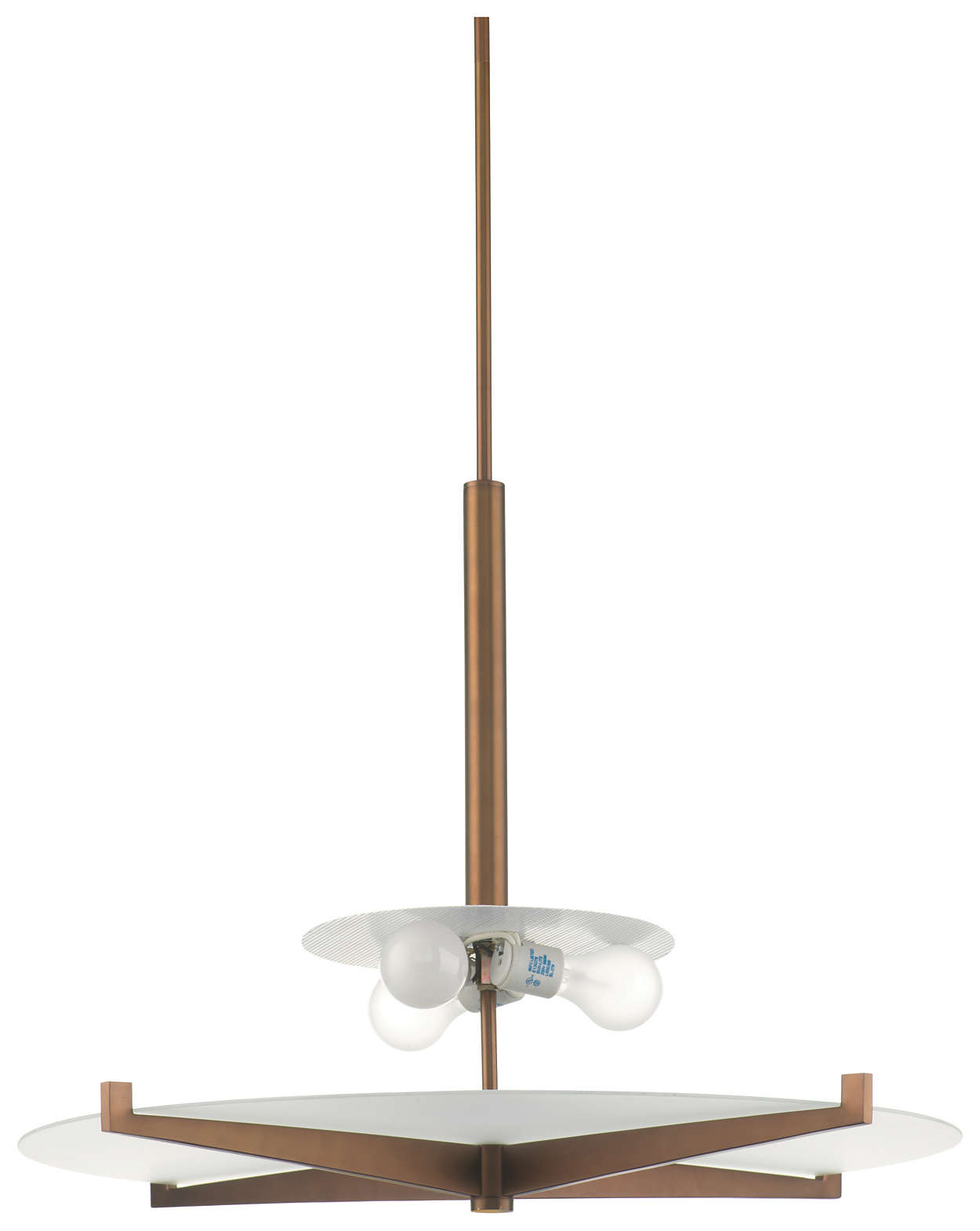 Fisher Island 3-light Pendant, Merlot Bronze