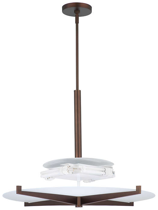 Fisher Island 4-light Pendant, Merlot Bronze