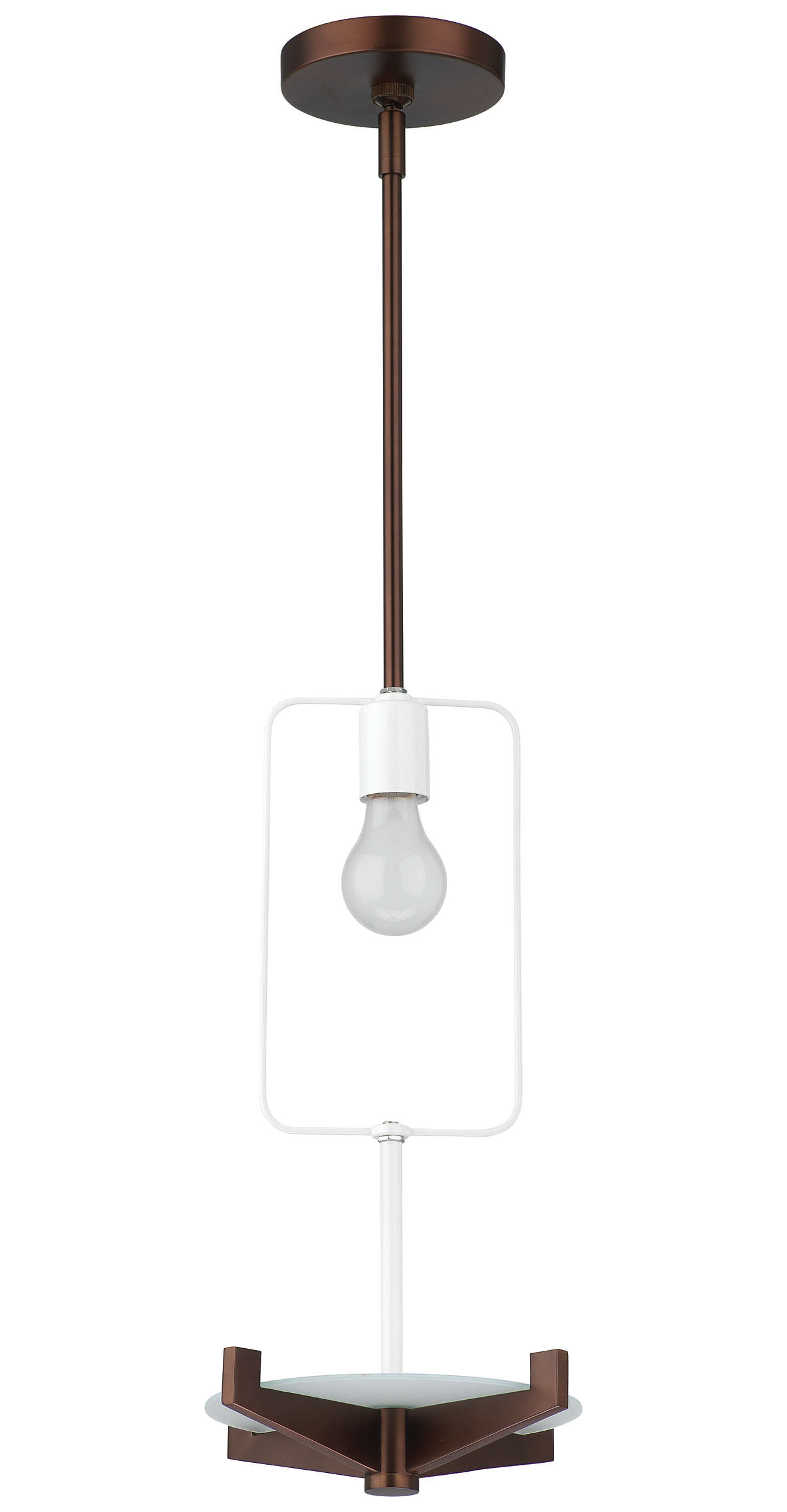 Fisher Island 1-light Pendant, Merlot Bronze