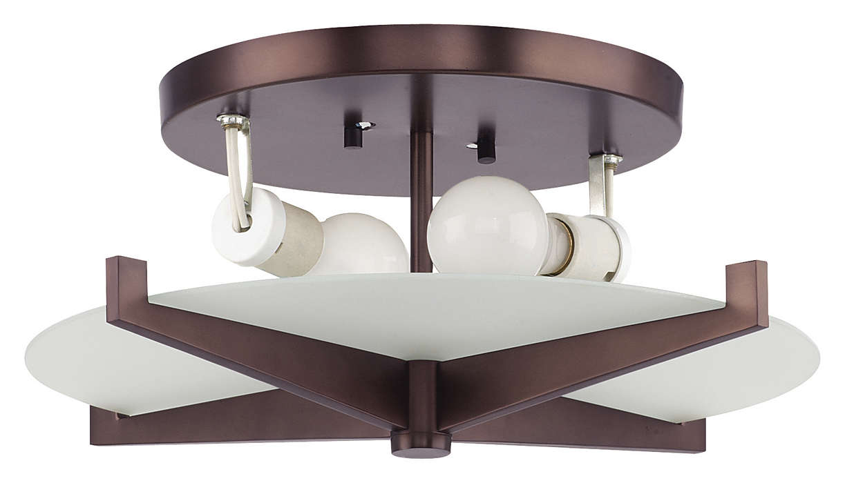Fisher Island 2-light Ceiling, Merlot Bronze