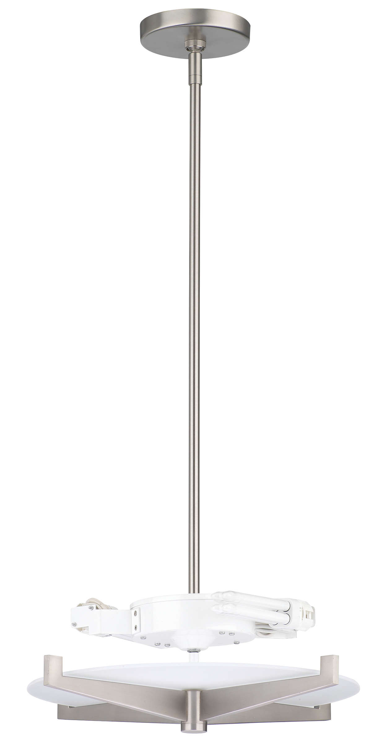Fisher Island 2-light Pendant, Satin Nickel finish