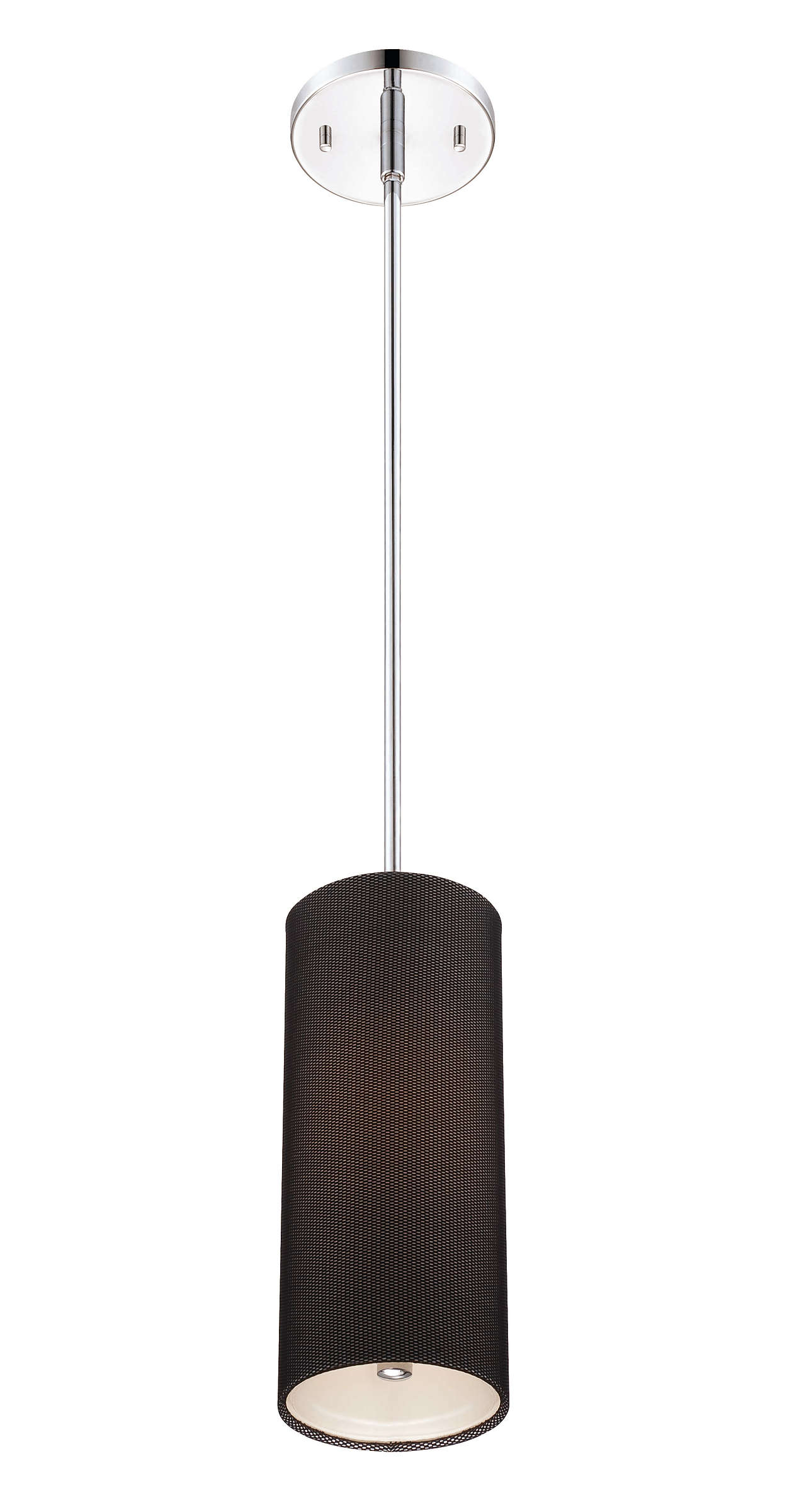 Fishnet 1-light pendant in Chrome finish