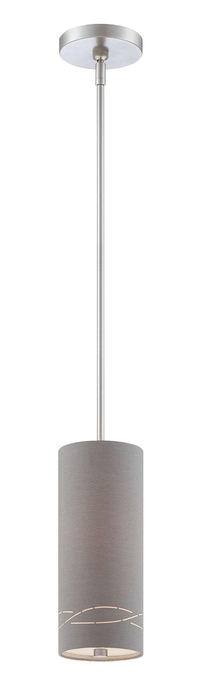 Silver Laser 1-light pendant, Satin Nickel finish