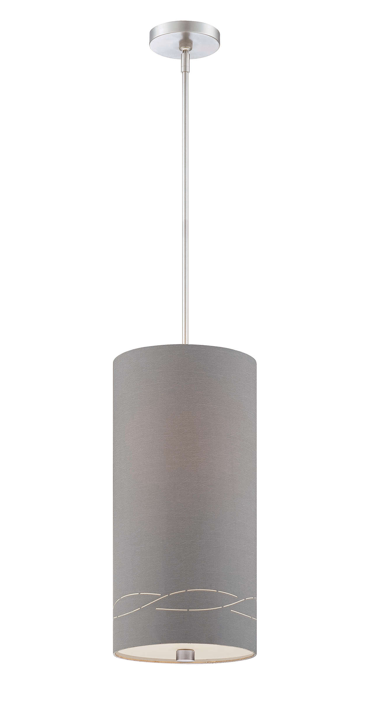 Silver Laser 1-light pendant, Satin Nickel finish