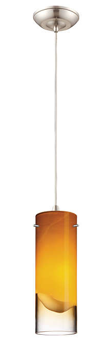 Crete 1-light pendant in Satin Nickel finish
