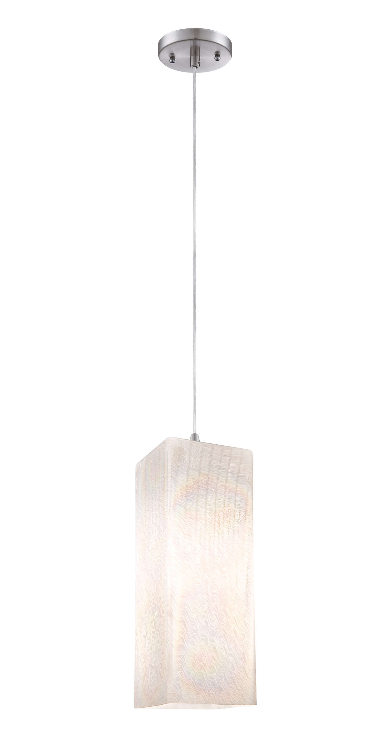 Cotton Candy 1-light pendant, Satin Nickel finish